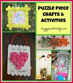 Puzzle Piece Project Roundup~ Don't throw your old puzzles away. Instead use them to make one of these neat ideas!