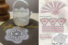 DIY Handmade: Koszyki na szydełku - 10 wzorów i schematówAle świetne pomysły ♥ diy, na Stylowi.Canasta a crochetThis basket with pattern good for the Easter egg or to put the fruit. Chat Crochet, Crochet Bowl, Crochet Diy, Thread Crochet, Love Crochet, Crochet Gifts, Filet Crochet, Crochet Motif, Crochet Doilies