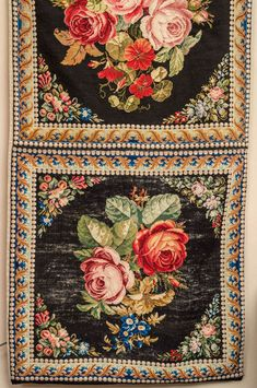 Needle Point Tapestry Runner, English circa 1880 | From a unique collection of antique and modern tapestries at https://www.1stdibs.com/furniture/wall-decorations/tapestry/