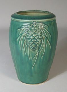 Pinecone Vase from Pewabic Pottery, $90 (This vase SO tempted me when I visited their factory recently; maybe someday... ;)