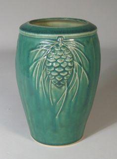 Pinecone Vase Pewabic Pottery