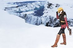 Iceland travel style. Gullfoss, Iceland. #chicvilleusa