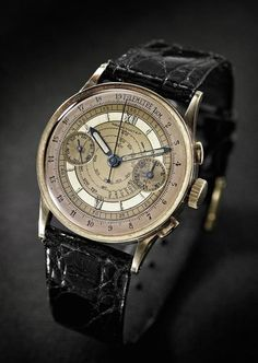 A French Lieutenant's 1938 Audemars Piguet Gold Chronograph That Saw Action In World War II