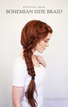 The Bohemian Side Braid | 23 Creative Braid Tutorials That Are Deceptively Easy... Mostly I'm just jealous of that gorgeous hair.