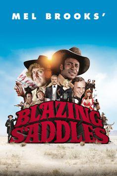 Blazing Saddles Movie Poster - Cleavon Little, Gene Wilder, Slim Pickens…