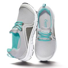 $24.99 You'll be walking on air! Lightweight with mesh upper for optimum comfort and breathability. Molded footbed. Pull-tab on back for easy on/off. Flexible outsole. Full mesh upper for incredible breathability. Padded collar for comfort. Variegated outsole for traction.Half sizes, order one size up.While supplies last.