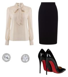 """""""The Lawyer"""" by jessica-misc ❤ liked on Polyvore featuring Christian Louboutin and Roland Mouret"""
