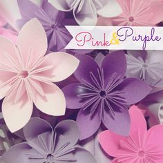 Origami Flowers  20pcs  Purple and Pink by PatchSupplyShop on Etsy, $20.00