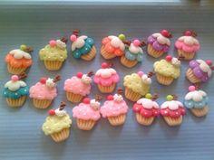 Resultado de imagen para figuras de arcilla polimerica cupcakes