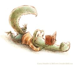 Reading, reading, reading… Illustration by Jennifer A. Bell)
