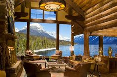view of snow covered mountains, i could be okay if this is my house and a great view