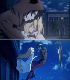 Satsuriku no Tenshi Angel Of Death, Anime Gifs, Anime Art, Otaku, Satsuriku No Tenshi, Image Manga, Cute Anime Wallpaper, Anime Angel, Cute Anime Couples
