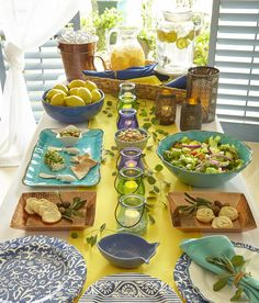 Bon Mediterranean Table Decor Concept  Snap Drape Brands Can Source It!