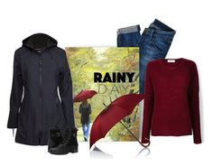 """""""Rainy Day"""" by patricia-dimmick ❤ liked on Polyvore featuring Hudson Jeans, Majestic Filatures, Barneys New York, Ilse Jacobsen Hornbaek, Blondo and rainyday"""