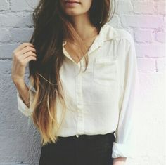 33 trendy ombre hair color ideas of 2019 - Hairstyles Trends Looks Chic, Looks Style, Mode Chic, Mode Style, My Hairstyle, Pretty Hairstyles, Blowout Hairstyles, Hairdos, Hairstyles Haircuts