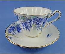 Blue Wistaria Royal Stafford Tea Cup and Saucer Set   eBay