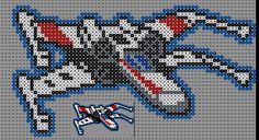 X-Wing Starfighter - Star Wars Perler Bead Pattern by Sebastien Herpin