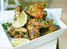 Jawaneh (Grilled Chicken Wings with Lemon and Garlic)