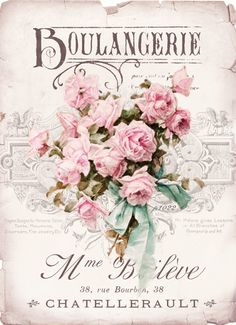 We've gathered our favorite ideas for Boulangerie Roses Digital Collage For Personal Use, Explore our list of popular images of Boulangerie Roses Digital Collage For Personal Use in decoupage collage. Vintage Labels, Vintage Ephemera, Vintage Cards, Vintage Paper, Floral Vintage, Vintage Flowers, Vintage Prints, Vintage Style, Shabby Chic Prints