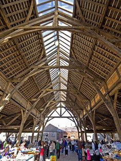 Penistone Public Market - Direct commission from Barnsley Borough Council designed by Carpenter Oak Ltd