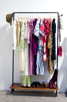 Build your own clothing rack // 25 Lifehacks For Your Tiny Closet