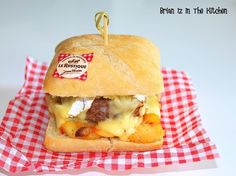 Burger Made in Normandy - Brian Iz In The Kitchen Burger Co, Pizza Burgers, Hamburger Pizza, Homemade Bagels, Cuisine Diverse, Snack Recipes, Snacks, Fast Recipes, Delicious Burgers