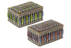 Assortment of 2 Jeweled Boxes on OneKingsLane.com