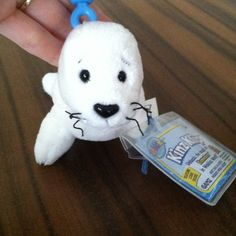 """Seal Kinz Klip Approximately 5.75"""" long. Blue clip rises approximately 3"""" above. Perfect for attaching to key ring, backpack, zipper, etc. Webkinz Accessories"""
