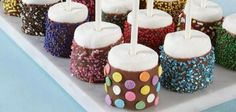 These Sprinkled Marshmallow Pops are pretty as a picture.  Be sure to check out the Cupcake Pops version too!