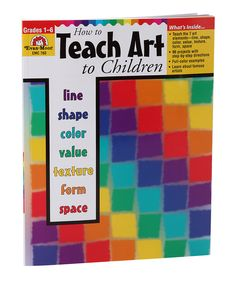 I loved this study! Grades 1-6 How to Teach Art to Children Paperback on #zulily today!