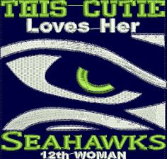 Football Embroidery DesignsSeaHawks 12 woman   by BiaForceDesigns, $7.50