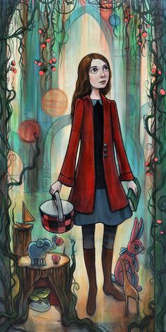 """""""Curious Gardens"""" painting for my upcoming solo show of the same name at Distinction Gallery."""