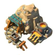 Iron Mine Tips The Iron Mine produces Iron. The Iron Mine will not produce Iron while upgrading. Boom Beach, Isometric Art, Isometric Design, Game Environment, Environment Design, Building Concept, Building Design, Cartoon House, Prop Design