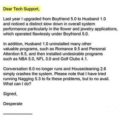 Tech support offers woman relationship tips - Funny emails - Good Housekeeping