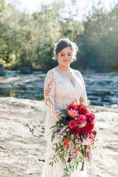 So much yes to the bright colors and dreamy dahlias in Kathyrn's bouquet! Photography: @fredericksphotoandfilms Dahlia Bridal Bouquet, Diy Wedding Bouquet, Diy Bouquet, Diy Wedding Flowers, Diy Flowers, Wedding Dresses, Wedding Arrangements, Flower Arrangements, Purple Dahlia