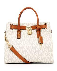 MICHAEL Michael Kors -  Hamilton Large Tote Bag, Vanilla #besoapp