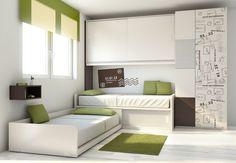 Dormitorios A Medida : Diseño del dormitorio infantil: camas compactas en escuadra 1