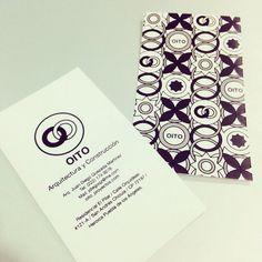 OITO Arquitectura y Construcción. Propuesta 1 para tarjetas de presentación. Business card. Tarjeta de contacto.
