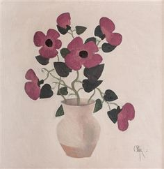 Constantin Piliuţă Violets, 1991 oil on canvas 60 x 60 cm Violets, Oil On Canvas, Auction, Artwork, Painting, Art Work, Work Of Art, Auguste Rodin Artwork, Painted Canvas