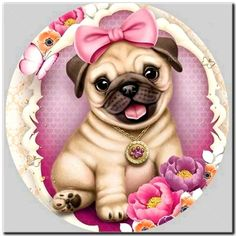 Diamond Painting Full Drill Kit Diamond Painting Kits for A – Jo Curry Art Shop Dog Pictures, Cute Pictures, Mosaic Animals, Pug Art, Stitch Pictures, Cute Dogs And Puppies, Cross Paintings, Pug Love, Cute Baby Animals