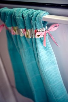 Hold the Stove Fancy Pants Kitchen Towels at Stole Moments - Adorable embellished kitchen hand towels.