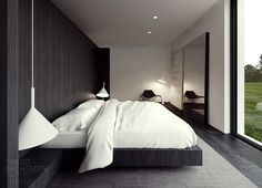 Gorgeous bedroom design for young couple.