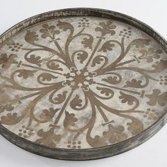 Round Decorative Tray Notre Monde Bronze Moroccan Tray $52500  Home  Pinterest