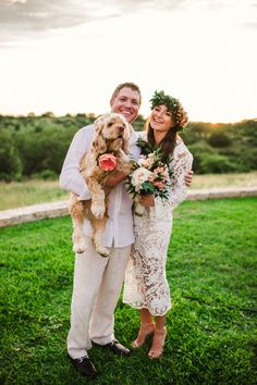 Ines and Wes's $5,500 Boho Texas Wedding See their gorgeous photos by Molly Magee @intimatewedding #realweddings' #smallweddings #bohowedding