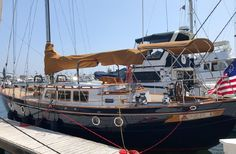 Hampton 43 Pilot House Cutter boats for sale Pilothouse Boat, Sailing Ships, Sailing Yachts, Classic Yachts, Beyond The Sea, Vintage Boats, Boat Interior, Boats For Sale, Adventure Time