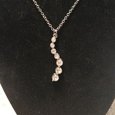 Cz diamond necklace Good condition Jewelry Necklaces