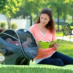 Munchkin - Protection soleil /pluie rétractable pour siège auto et poussette