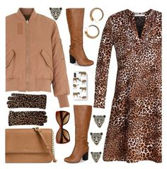 Leopard dress by amisha73 on Polyvore featuring moda, Whistles, Journee Collection, Michael Kors, Azaara and Cejon
