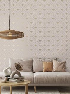 This beautiful Honeycomb Bee Wallpaper will add a stylish finishing touch to your home. The design features a metallic gold geometric honeycomb style pattern of interlocking octagon shapes with diamonds inside and a gold bee motif in the centre. This is set on a soft dusky pink background with a smooth matte finish. Easy to apply, this high quality wallpaper would look great when used to create a feature wall or to decorate an entire room Animal Print Wallpaper, Paper Wallpaper, Bee Theme, High Quality Wallpapers, Stuffed Animal Patterns, Honeycomb, Pattern Fashion, Pink And Gold, Room
