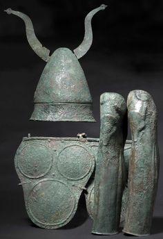 Samnite armor, Bronze. 4th century BCE.